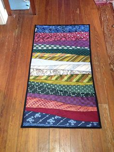 Rug From Neckties Would Make A Cute Table Runner Has The