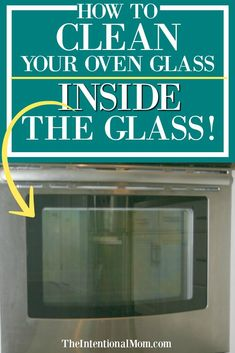I've got a simple way you can clean the oven glass door, inside the glass, without using chemicals. If you've got baking soda, vinegar & a magic eraser you are set! #cleaninghack #cleaningtips #cleaningtricks via @www.pinterest.com/JenRoskamp