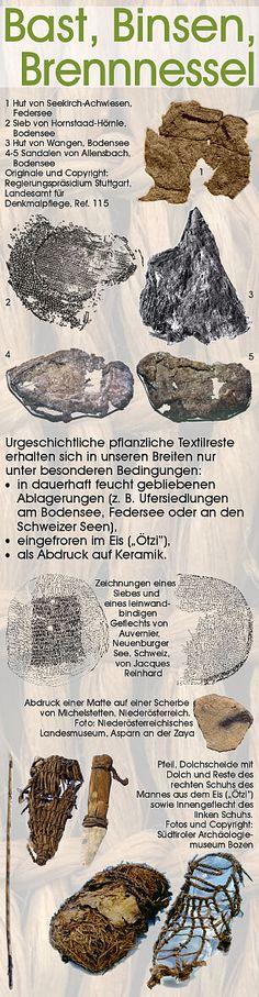 Textiles Material der Steinzeit