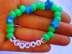 Kandi Bracelet Mermaid by KandiKookiez on Etsy