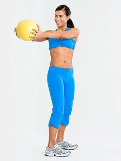 15 Minutes to Flatter Abs: Medicine Ball Tap