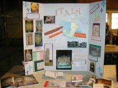 Italy Trifold Board Display for Geography Fair Fair Projects, Research Projects, School Projects, 2nd Grade Classroom, School Classroom, All About Italy, School Displays, World Geography, School Posters