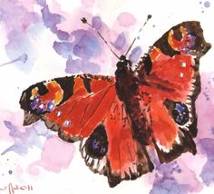 SALE Original BUTTERFLY Painting watercolor by #bright #butterfly #painting #eastwitching