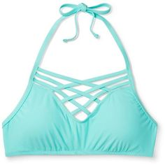 Women's High Neck Halter Bralette Bikini Top - Mossimo™ : Target ❤ liked on Polyvore featuring swimwear, bikinis, bikini tops, high neck halter top, high neck bikini top, halter top, bralette bikini and swimsuit tops