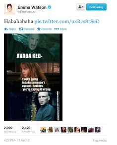 Even better because Emma Watson tweeted it