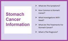 Stomach Cancer Information  www.mystomachcancersymptoms.com
