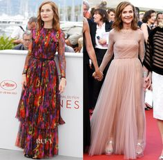 Isabelle Huppert In Gucci & Christian Dior Couture – 'Happy End' Cannes Film Festival Photocall & Premiere