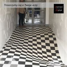 An Optical Illusion Tile System Designed by Casa CeramicaCasa Ceramica's checkerboard design—which comprises 400 custom-cut tiles—creates an optical illusion that works from the perspective of the front door.Harry negotiating our entrance floor. Op Art, Esmod Paris, Ceramica Tile, Illusion Kunst, Cool Optical Illusions, Optical Illusion Art, Illusions Mind, Magic Illusions, Flur Design