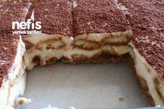 Turkish Kitchen, Food Picks, Tiramisu Cake, Turkish Recipes, Cream Cake, Yummy Cakes, Bakery, Deserts, Snack Recipes