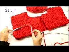 "🎥TUTORIAL: Giacchino ""chanel""/ cardigan top down**lafatatuttofare**-🛒www. Free Crochet, Crochet Top, Top Down, Crochet Hooded Scarf, Sweaters For Women, Men Sweater, Crochet Books, Baby Dress, Arm Warmers"