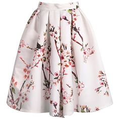 To find out about the Plum Blossom Print Flare Skirt at SHEIN, part of our latest Skirts ready to shop online today! Floral Pleated Skirt, White Maxi Skirts, Floral Print Skirt, Floral Skirts, Pleated Dresses, Motif Floral, Floral Patterns, Floral Maxi, Floral Design