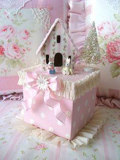 Sweet n Shabby Pink Bunny Box by sweetnshabbyroses, via Flickr