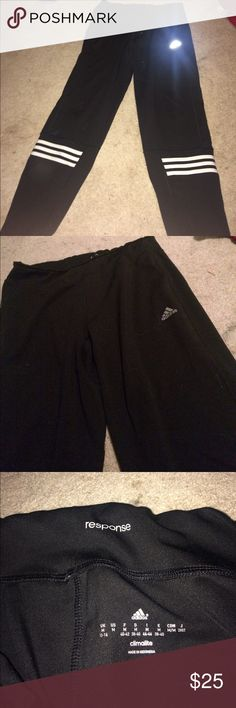 Women's Adidas pants Black Adidas Response work out pants ! worn like 5 times , but i never liked how they looked on. great condition. adidas Pants Track Pants & Joggers