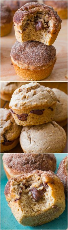 NUTELLA stuffed muffins! Coated in cinnamon sugar and completely irresistible.