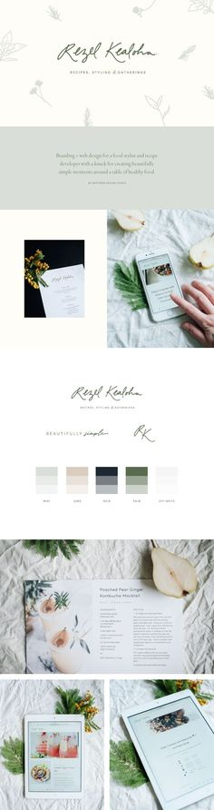 Branding + website design for Rezel Kealoha by Wayfarer Design Studio // design, branding, brand, brand identity, logo, logos, graphic design, identity, web, website, website design, blogger, food blogger, blog design, recipe, lettering, hand lettering, food, blogging