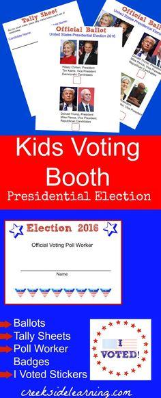 Free Printable Ballots for Kids - Classroom Voting Ballot