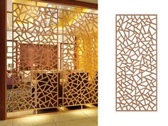 Gallery of laser cut screens, photos to show the processed panels, the finished products and the samples we made for metal screens.