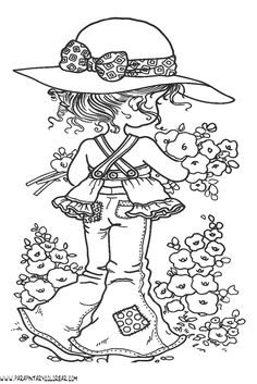 Free coloring pages of sarah kay Fairy Coloring Pages, Coloring Pages To Print, Free Coloring Pages, Coloring Books, Sarah Key, Hand Embroidery Patterns, Machine Embroidery Designs, Tammy Love, Holly Hobbie