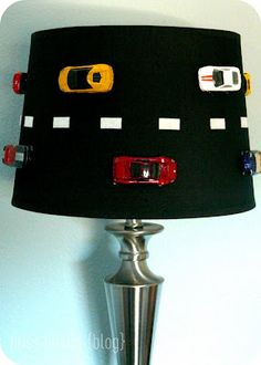 my grandson loves cars. great lampshade for his room! diy.