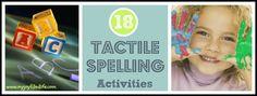 18 Tactile Spelling Activities