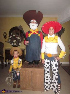 Woody's Roundup Gang Toy Story Family Costume - Halloween Costume Contest via @costumeworks