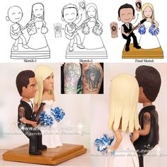 wedding cake topper groom playing guitar custom wedding cake toppers on wedding cake 26331