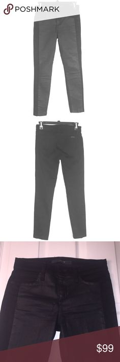 """Black Contrast Tux Skinny Ankle Jeans Size 25. Inseam 26"""" Rise 8 1/2"""". Joes Black Tux Skinny Ankle Jeans. Preowned and in excellent condition. Skinny ankle fit. Retails for $189. Please view all photos. Joe's Jeans Jeans Skinny"""
