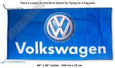 $10.99 New VOLKSWAGEN BLUE golf jetta banner flag