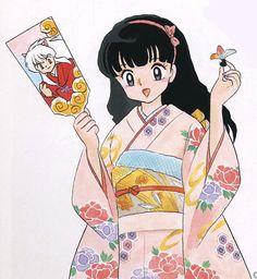 The Official 犬夜叉 Art Art Manga, Chica Anime Manga, Manga Drawing, Anime Art, Kagome And Inuyasha, Kagome Higurashi, Anime Style, Anime Love, Character Design