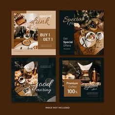Food Graphic Design, Food Poster Design, Web Design, Flyer Design, Instagram Feed Layout, Instagram Post Template, Instagram Design, Instagram Posts, Layout Banner