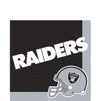 Oakland Raiders 16-Pack Beverage Napkins