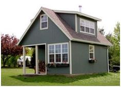 The Whitehorse II Cottage is just one of dozens of plans for tiny cottages, cabins, live-in garages, barns and country outbuildings that you'll find at BackroadHomes.com