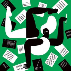 Read, write … imagine, create / Leer, escribir… imaginar, crear (ilustración de Olimpia Zagnoli)