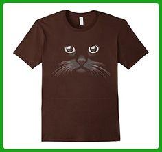 Mens Cat Face T-Shirt Black Kitten Fun Pet Kitty Graphic Cats Tee Medium Brown - Animal shirts (*Amazon Partner-Link)