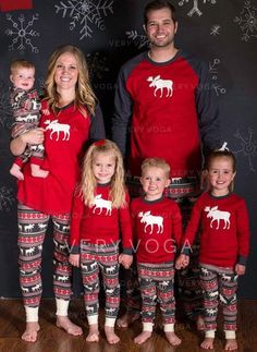 US  12.99  Reindeer Matching Family Christmas Pajamas (1031245853)  Matching Family Christmas 0d00c4fcf