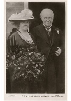 An A1 poster sized print, approx 23c33 inches (594x841 mm). The British Prime Minister David Lloyd George (1863 - 1945) and his wife Dame Margaret Lloyd George (1866 - 1941). They married in 1888 and had five children. This picture would appear to date from the start of Lloyd George's Premiership. . Image supplied by Mary Evans Prints Online. Product ID:4449147_73045_0 Fine Art Prints, Framed Prints, Canvas Prints, British Prime Ministers, Mr Mrs, Wonderful Images, Photo Greeting Cards, Poster Size Prints, Prints Online