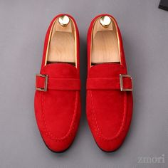 Red Giant Buckle Suede Mens Dappermen Dapper Men Loafers Flats Shoes is part of Shoes - Red Giant Buckle Suede Mens Dappermen Dapper Men Loafers Flats Shoes, MaterialFaux Leather Heels Measurement 3 cm Suede Shoes, Loafer Shoes, Loafers Men, Men's Shoes, Shoes Men, Wing Shoes, Flat Shoes, Leather Heels, Sneaker Dress Shoes
