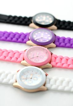 Candy Color Crystal Quartz Watch