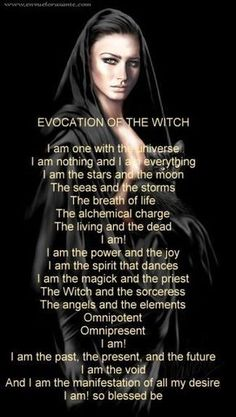 Evocation of the Witch (Printable Spell Page) | Witches Of The Craft®