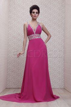 Exquisite Empire V-neckline Brush Train Floor-length Taline's Evening Dress Evening Dresses 2014- ericdress.com 10188870