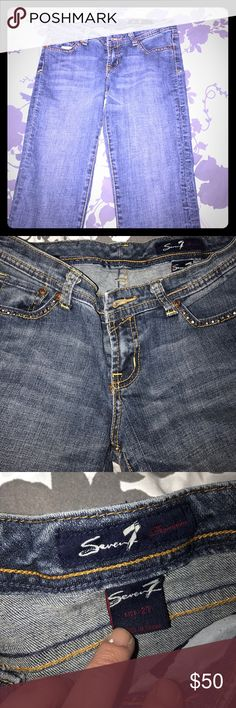 SEVEN7 size 27 bootcut jeans! Super cute! SEVEN7 size 27 bootcut jeans! Super cute! Worn one time, love, love, love these! Seven7 Jeans Boot Cut