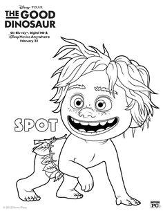 httpcoloringtoolkitcom disney pixar the good dinosaur spot dinosaur coloring pagesdisney - Disney Dinosaur Coloring Pages
