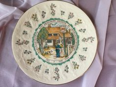 Royal Doulton Kate Greenway Almanack Plate / Leo The Lion / 1977 by SunshineVintageGoods on Etsy