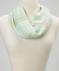 Look at this #zulilyfind! Mint Shimmer Stripe Infinity Scarf by Rikka Scarves #zulilyfinds