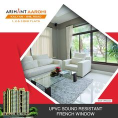 Arihant Aarohi  Kalyan Shill Road - 1 2 & 3 BHK Flats - 3 Towers, Stilt+18  Storeyed, Residential Cum Commercial Project  #Maharera Number for Phase I - P51700004679  https://maharera.mahaonline.gov.in/  UPVC Sound Resistant French Window  http://www.asl.net.in/arihant-aarohi.html  #ArihantAarohi #RealEstate #Homes #Property #Residential #Commercial #KalyanShillRoad