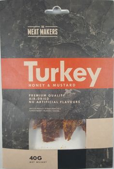 The Meat Makers - Honey & Mustard turkey jerky review. http://jerkyingredients.com/2016/11/02/the-meat-makers-honey-mustard-turkey-jerky/ @TheMeatMakers #turkeyjerky #review #food #jerky #ingredients #jerkyingredients #jerkyreview #beef #paleo #paleofood #snack #protein #snackfood #foodreview #honey #mustard #honeymustard #honeyjerky #lithuania #turkey