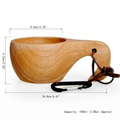 Visual Touch Portable Outdoor Kuksa Wood Wooden Craft Cup New Finland Handmade Mug Wood Tableware Tea/Milk/Breakfast Coffee Cup