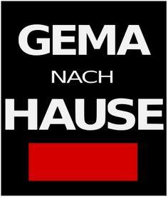 GEh MAl nach Hause ... Anti GEMA Demo Shirt Shop, Calm, Artwork, Shopping, Gems, Sketches, Work Of Art