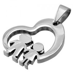 Stainless Steel Cut Out Heart Pendant