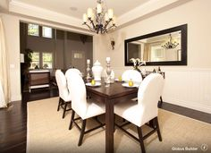 Formal Dining Room Design, Pictures, Remodel, Decor and Ideas - page 4 Beige Dining Room, Dining Room Walls, Dining Room Design, Room Chairs, Feng Shui Dining Room, Dining Room Seat Covers, Dining Chair, Dining Area, Contemporary Dining Room Sets